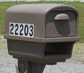 Mailbox with 911 address